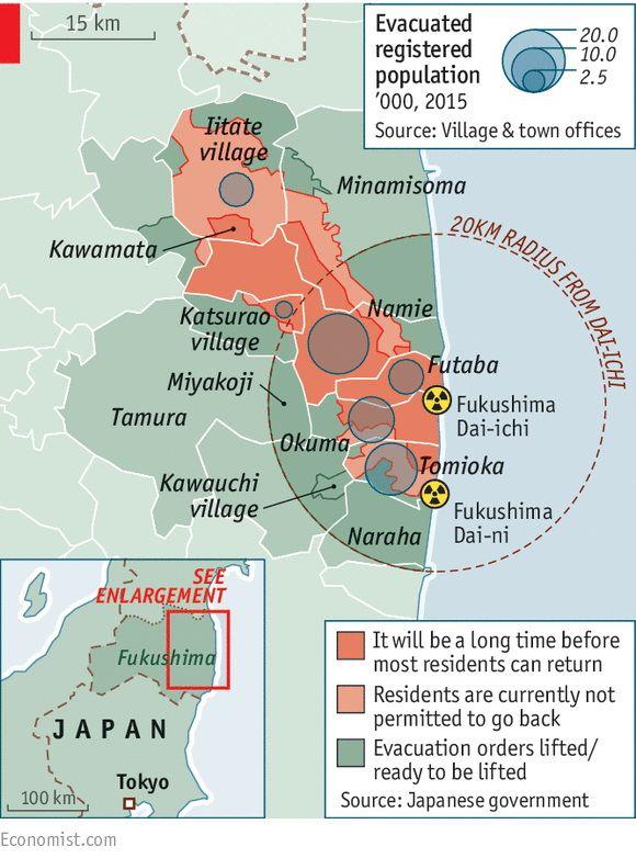 Japan Fukushima Uninhabitable Zones