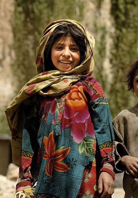 young girl in northern Pakistan. she is so happy. Christians are tortured here daily.