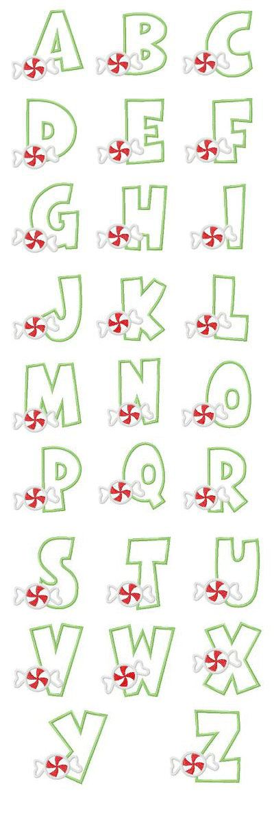 Candy Applique Font - 4 sizes