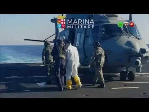 MARINA MILITARE - SAR 31 Luglio Nave Grecale Medvac di due Migranti - ww...