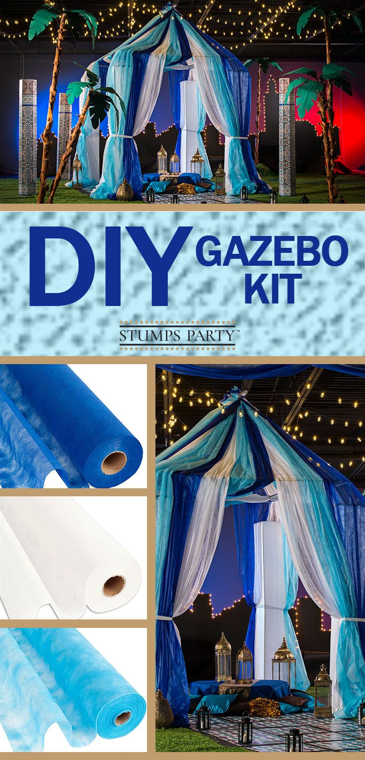 Turn your event into an amazing celebration that your guests will remember for years to come by creating a large, gossamer draped tent! Shop all of our Moroccan party supplies to make your event complete!