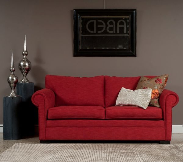 Highlands Double Sofa Bed. If you don't like the Cherry red colour don't concern yourself, we deal with all the leading Australian fabric houses. Made in Sydney, Australia. www.sofastudio.com.au