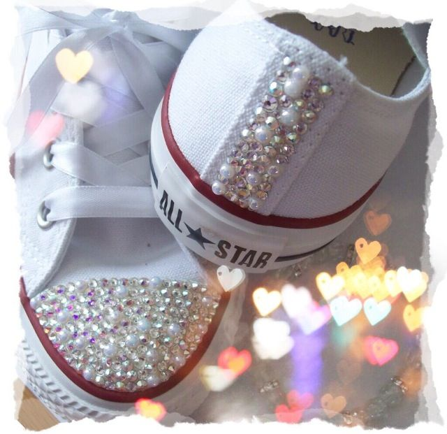 Pearl & Sparkles Converse for Wedding Shoes