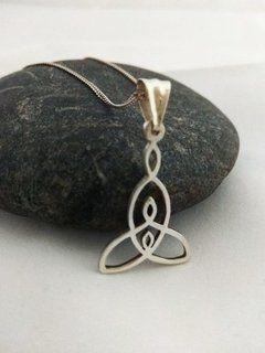 018323b95405 dije cadena medalla simbolo celta de la maternidad madre plata 925 ...