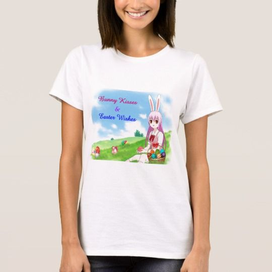 40 best flower t shirt images on pinterest alice bellis bunny kisses easter wishes customizable t shirt sciox Image collections