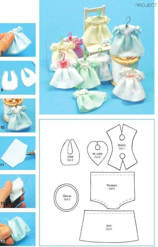 how to: mini doll dress pattern