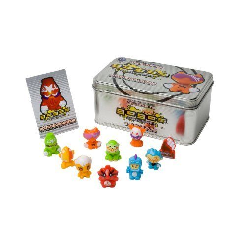 "GoGo's Crazy Bones - Exclusive Limited Edition Silver Collector's Tin #4 Shown In The Picture by JDNA. $22.95. Unique characters available only in the collector tin set; Each figure is approximately 1 inch tall. Contains 10 Limited edition GoGo's Crazy Bones figures. Limited edition Silver collectors Tin #4. ""NOT"" randomly picked, check out the product image as a reference.. For age 5 and up. 10 Limited edition GoGo's Crazy Bones characters with Storage Tin Cr..."