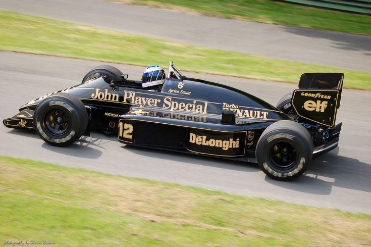 Ayrton Senna in the John Player Special Lotus Renault 98T