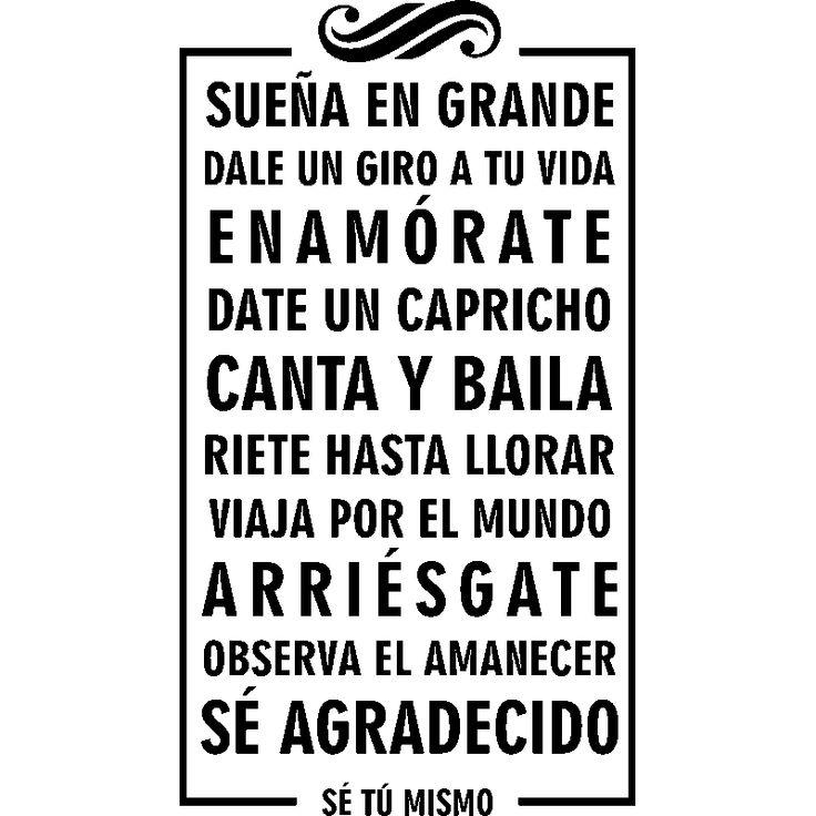 Sticker Suena en grande dale un giro a tu vida - Stickers Citations Espagnol - ambiance-sticker
