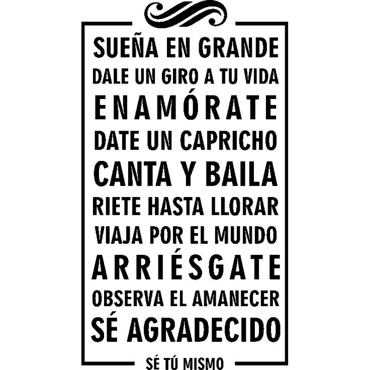 Sticker Suena en grande dale un giro a tu vida - Stickers Citations Espagnol - ambiance-sticker
