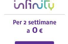 Prova Infinity, la TV dove cuoi tu. Attivazione gratis, 2 settimane di prova gratis.
