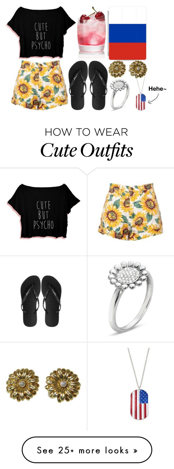 """""""Russia Inspired Summer Outfit (Fail)"""" by arithegeek11 on Polyvore featuring Havaianas, Casetify and Georg Jensen"""