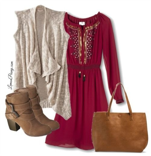 Target Dresses and Boots for Fall and Winter! Love this Casual Look for Everyday Fashion!