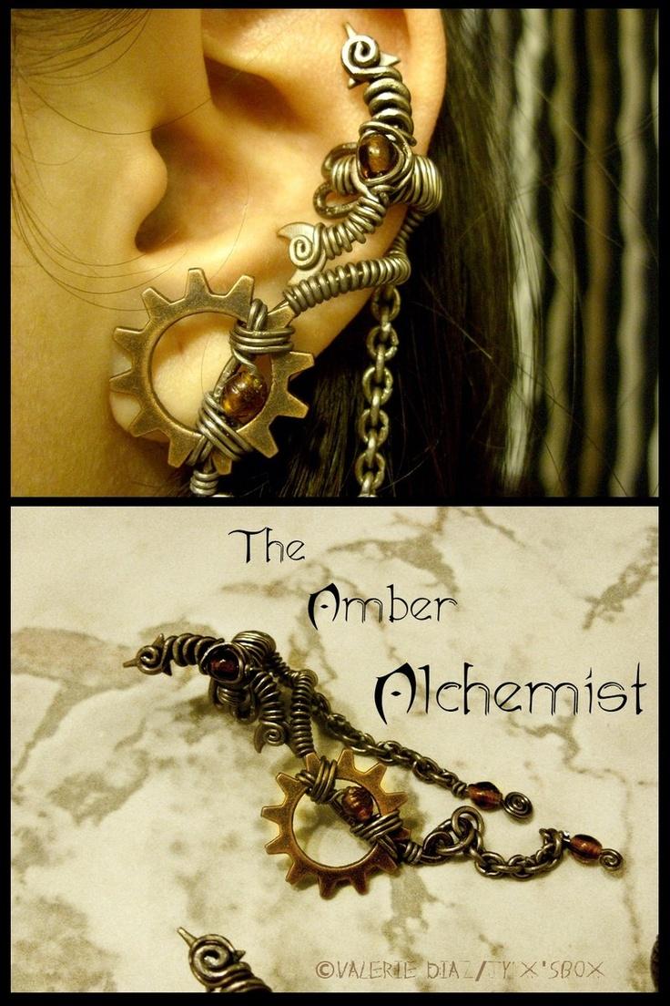169 best jewelry ear wraps cuffs images on pinterest ear amber alchemist ear cuff by jynxsbox baditri Choice Image