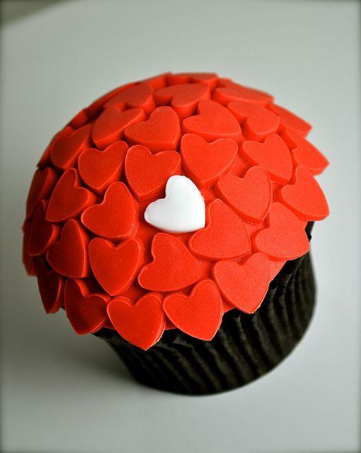 Unique Heart Valentines Day Cupcake