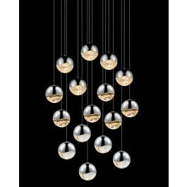 Grapes 16-Light Rectangle LED Chandelier by Sonneman | Interior-Deluxe