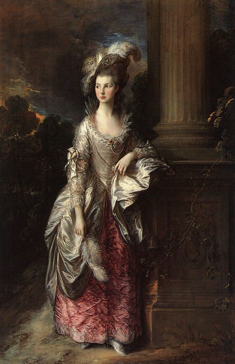 A portrait by Gainsborough of Mary Graham.  Mary was Georgiana's closest friend (prior to Bess).  Gee loved Mary ferociously.