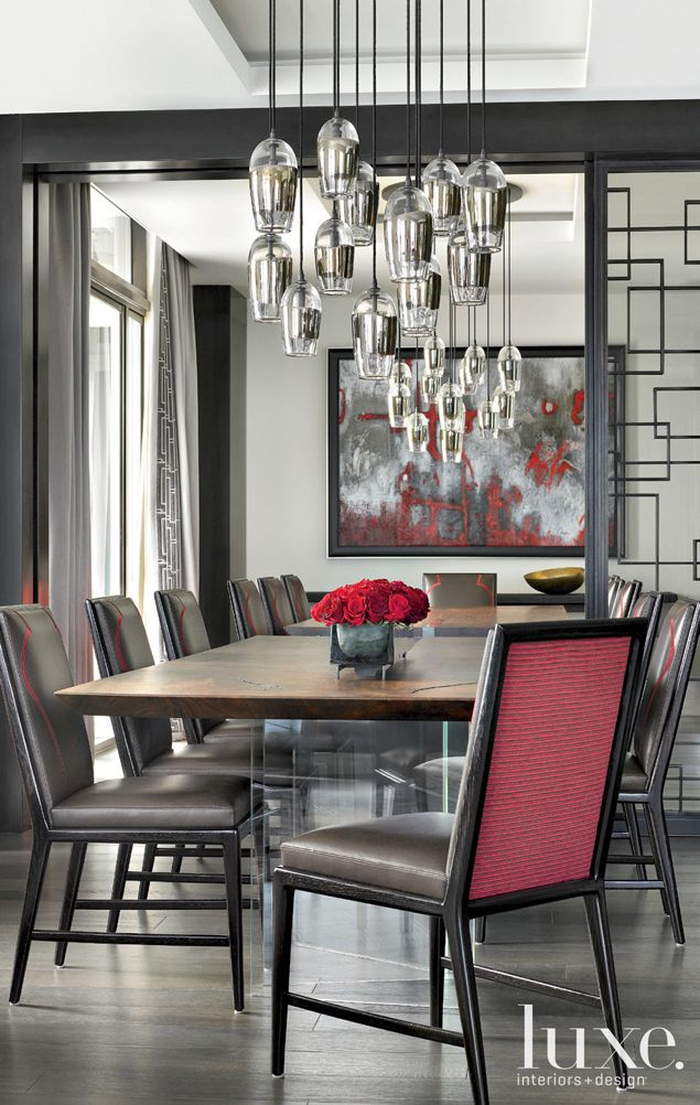 the dining room of a ny style miami waterfront cool