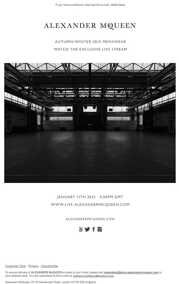 Watch the AW15 Menswear Live Stream at 4pm (GMT) Today