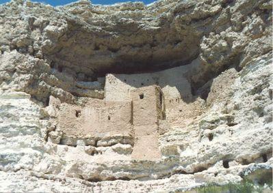 Near the town of Jerome, Arizona. Ancient Anazai Indian dwellings