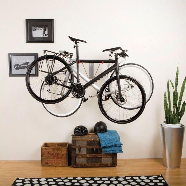 Fahrradhalter für Wand versetzt zwei Räder in der Höhe