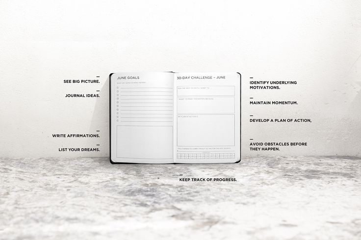 A planner designed to make you more successful - with places to track your goals and map our your big plans, with smart journal prompts to inspire you to be your very best.
