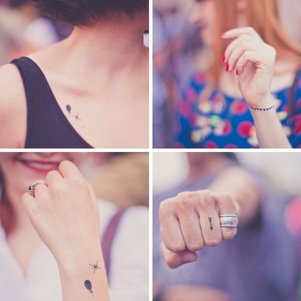 Tattyoo-temporary: giving out temporary (but REAL looking!) tattoos as wedding favors that they can put on the day of your wedding or take home. Neat