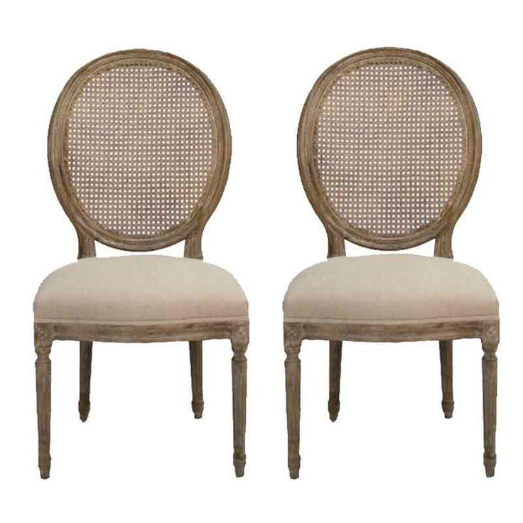 Provencal Cane Back Chairs - Belle Maison