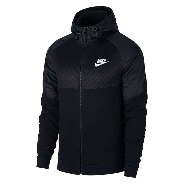Men's Nike AV15 Full-Zip Hoodie, Size: Medium, Grey (Charcoal)