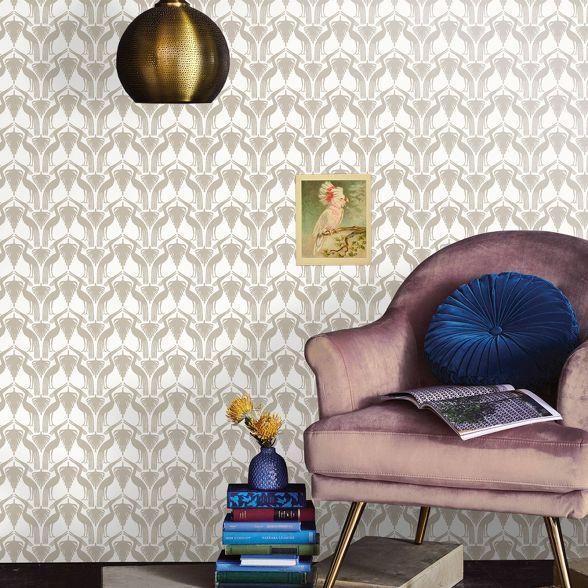 Deco Bird Peel Stick Wallpaper Opalhouse Accent Walls In Living Room Peel And Stick Wallpaper Grasscloth