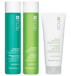 FC5 Shower Set    Smarten up your shower with three products to help keep skin and hair hydrated and radiant. Enjoy Nourishing Daily Shampoo and Conditioner, plus Invigorating Body Cleanser.