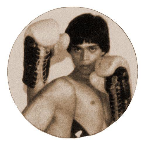 Master Armando D. Liban at Yaw-Yan Temple Quiapo Manila (c. 1976).  Photo by Grandmaster Napoleon A. Fernandez.  Scanned image courtesy of Yaw-Yan Fervilleon Director Master Nes Gelito.