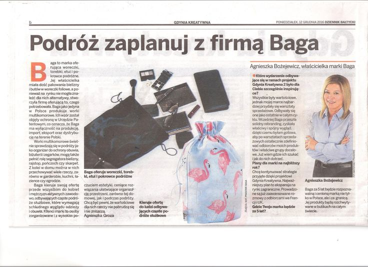 From today: Polish press about the company Baga. I invite you to cooperation! #press #baga #cooperation #popularity #fashionbrand #polishbrand #travelaccessories #travelbag #bagforshoe #bagforlingerie #fashionaccessories