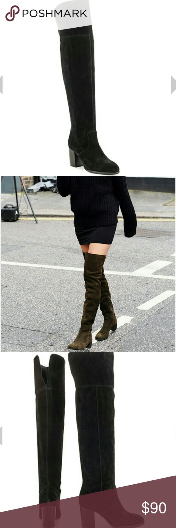 New Jessica Simpson Over the Knee Boots Suede Round toe Pull on  21 1/8 in height Jessica Simpson Shoes Over the Knee Boots
