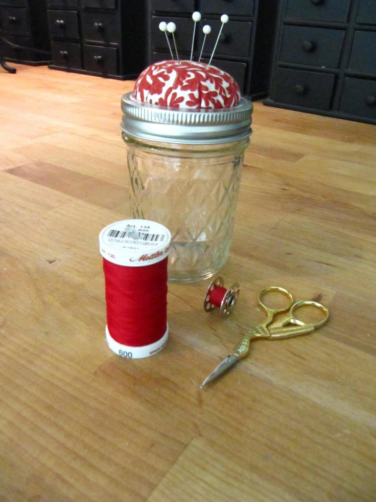 Sew Many Ways...: Tool Time Tuesday...Canning Jars Projects  Great gift idea for my crafty friends :)