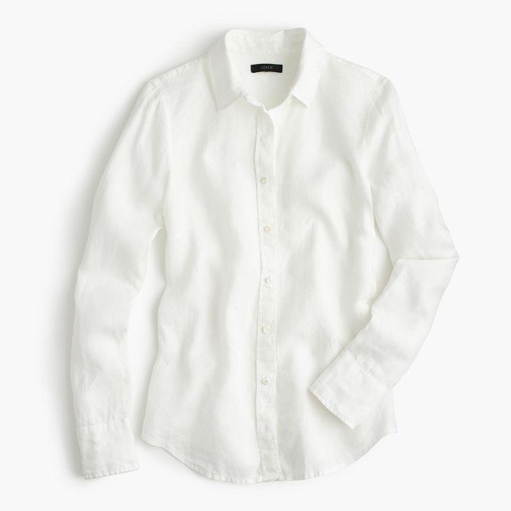 J.Crew - Perfect shirt in piece-dyed Irish linen
