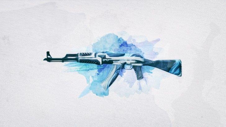 Download AK 47 Vulcan CSGO Assault Rifle Wallpaper 1920x1080