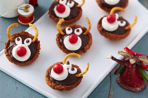 Rudolf caramel tartlet Christmas in July recipes www.taste.com.au