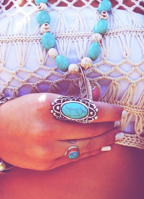 Just my style;)Fashion, Turquois Rings, Style, Turquois Jewelry, Turquoise Rings, Turquoise Jewelry, Accessories, Accessorizing, Jewelry Boxes