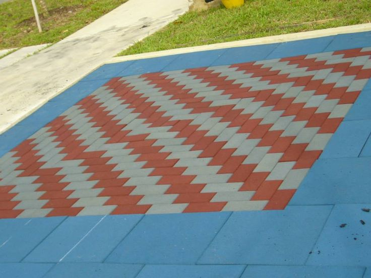 Rectangular Paver Tiles To provide an impact absorbing surface around and under play equipment. These surfaces are elastic, non-skid, porous and can withstand extreme weather as well as non-flammable and shock absorbent.