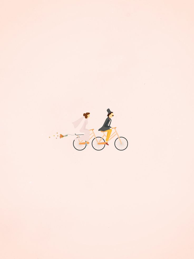 """charming little """"just married"""" illustration"""