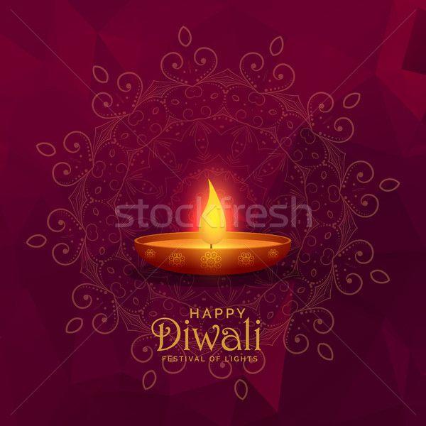 illustration of burning diya happy diwali festival background stock photo (c) SArts (#8404620)   Stockfresh