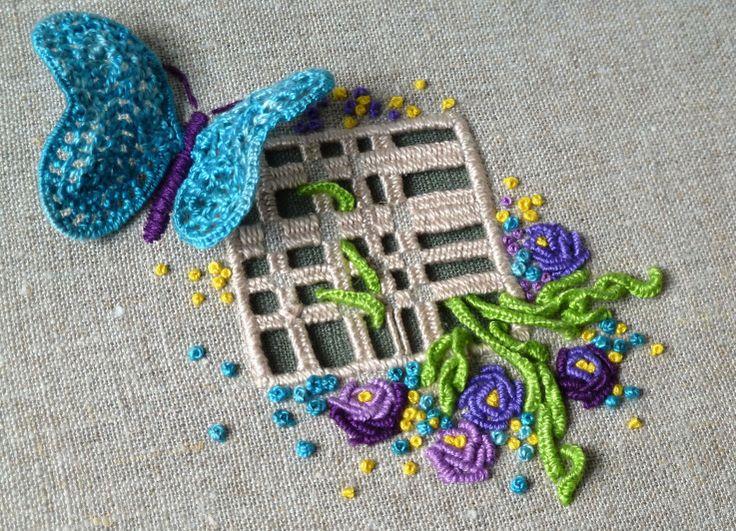Silk embroidery - silkebroderi