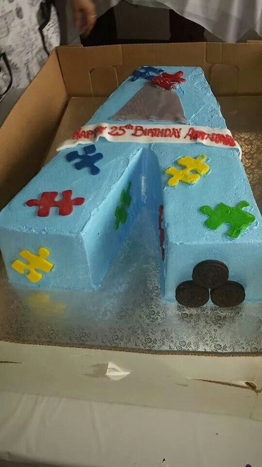 Cake Decorated By Girl With Autism : 28 best images about Autism Cakes! on Pinterest
