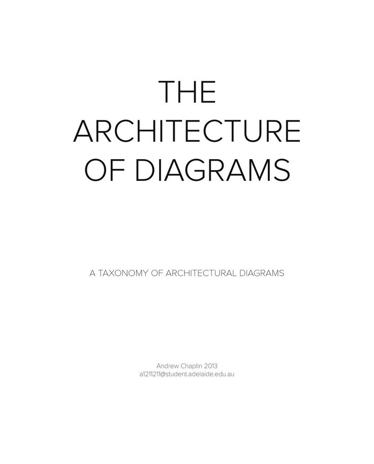 The Architecture of Diagrams A visual and written catalogue of Architectural diagrams. The diagrams are presented using a framework of descriptors such as 'axonometric', or 'parti', many of which overlap.