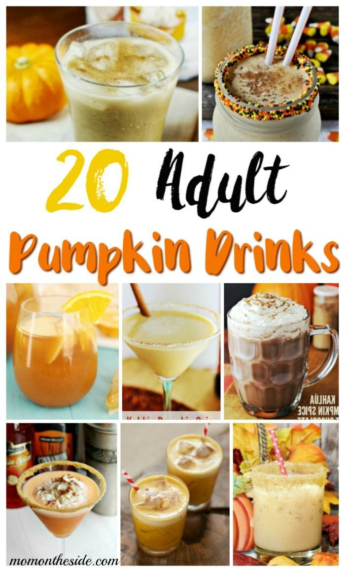 Stop by Mom on the Side to find 20 Spooktacular Adult Pumpkin Drinks for fall…