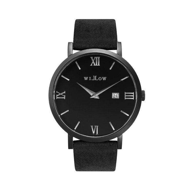 Verona Matte Black Watch & Interchangeable Black Vegan Strap.