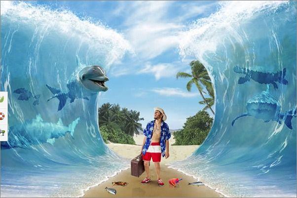 웹스토리 보이 :: [포토샵] 여러장의 사진을 이용한 멋있는 해변 사진 합성하기