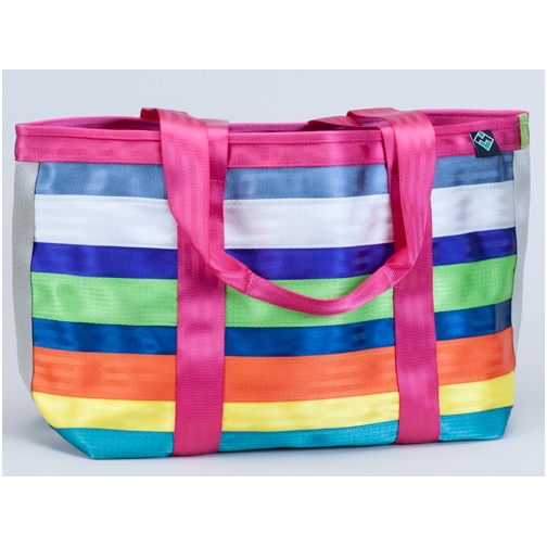 maggie bags tote of many colors, made from recycled seatbelt fabric! $67