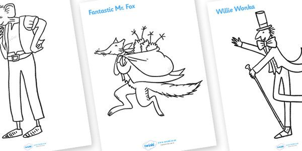 Roald Dahl Colouring Sheets Roald Dahl Colouring Sheets Roald Dahl Colouring Pages
